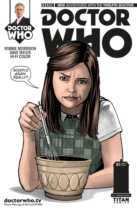 Clara cover for Titan Comics Twelfth Doctor range