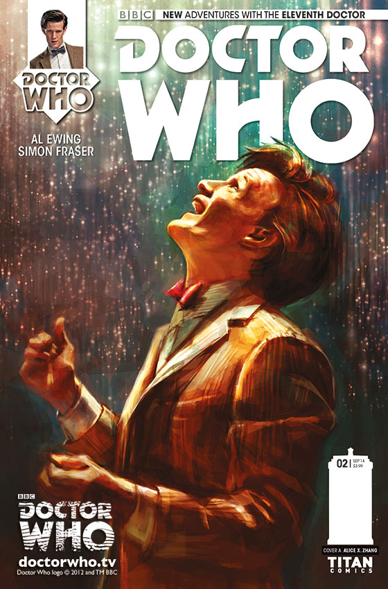 Regular cover for Doctor Who: The Eleventh Doctor #2 by Alex X Zhang